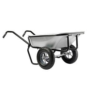 Brouette 160 litres 2 roues à caisse galva