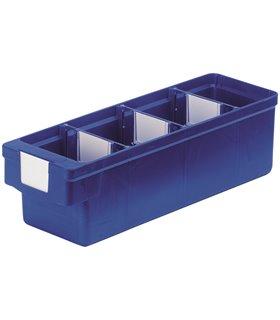 Bacs compartimentables en polypropylène, L300mm