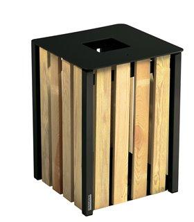 Corbeille urbaine 50 Litres en bois