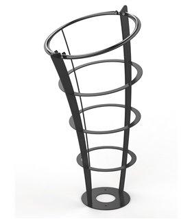 Corbeille extérieure Vigipirate sur pied 110 Litres en acier