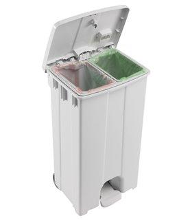 Container plastique 2x45 litres à pédale