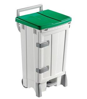 Container plastique 2x45 litres à pédale et porte frontale