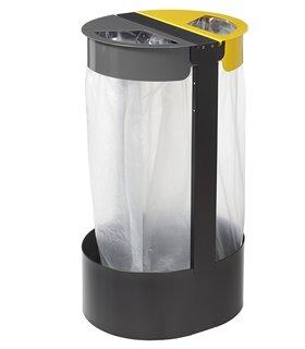 Support sac poubelle sur pied 2x75 Litres