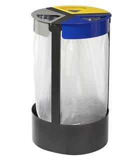 Support sac poubelle sur pied 3x45 Litres