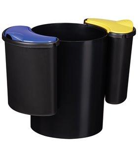 Corbeille de tri sélectif 25 Litres à 2 compartiments amovibles