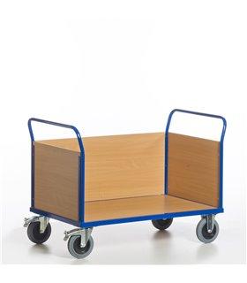 Chariot à 2 dossiers et 1 ridelle bois