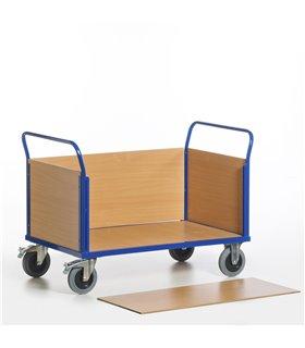 Chariot à 2 dossiers et 2 ridelles bois