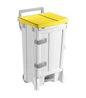 Container plastique 90 litres à pédale et porte frontale