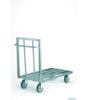 Chariot plate-forme aluminium à claire voie