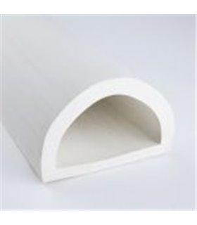 Butée linéaire demi-rond pour protection de murs