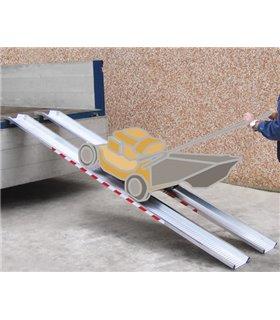 Rail de chargement aluminium avec rebords charge maxi 1500kg
