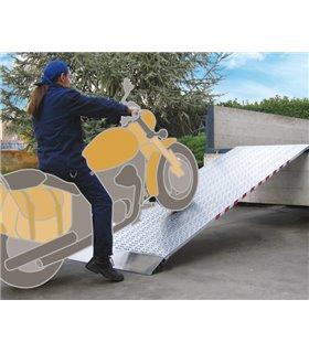 Rail de chargement aluminium sans rebords pour charges allant jusqu'à 2900kg.