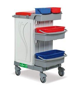 Chariot de nettoyage fermé avec pré-imprégnation