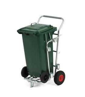 Chariot de voirie porte poubelle