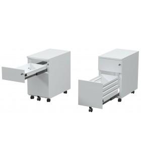 Caisson mobile de bureau 2 tiroirs - étroit