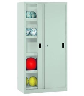 Armoire à ballons avec portes coulissantes pleines