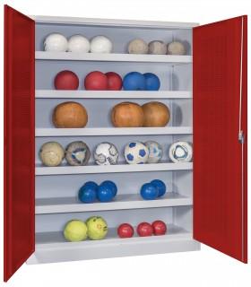 Armoire à ballons avec portes ajourées