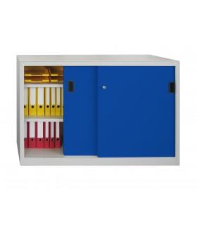 Armoire basse de bureau à portes coulissantes L1500mm
