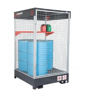 Cage de sécurité pour liquides et gaz