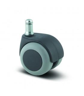 Roulette pivotante polypropylène à tige bandage caoutchouc thermoplastique