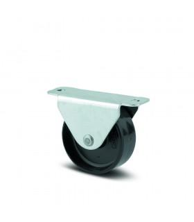 Roulette fixe polyamide à platine de quincaillerie