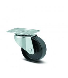 Roulette pivotante polyamide à platine de quincaillerie