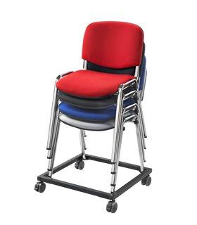 Cadre roulant pour chaises fixes empilables