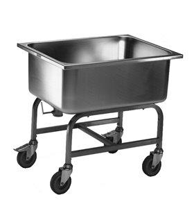 Chariot inox de lavage de légumes