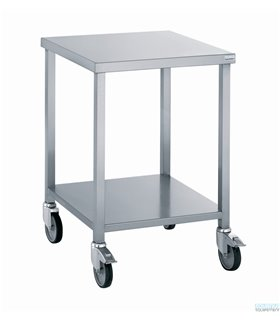 Table porte-machine inox mobile