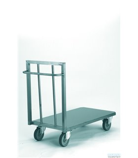 Chariot plate-forme inox à dessus plein
