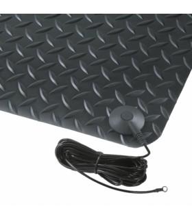 Tapis de protection ESD en PVC surface tôle de diamant