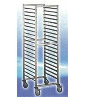 Chariot échelle à glissières inox pour bacs Gastronorm