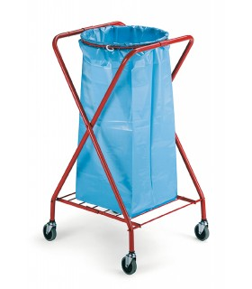 Support-sac poubelle roulettes