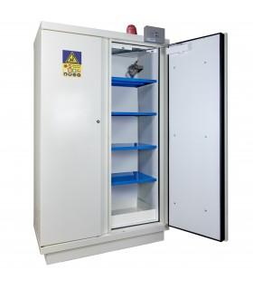 Armoire de sécurité stockage de batteries équipée