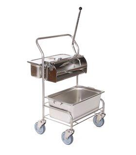Chariot de lavage inox pour salle blanche