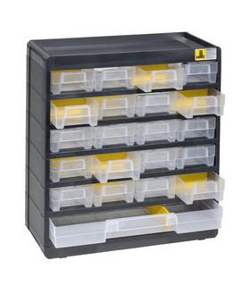 Casier rangement vis à 21 tiroirs