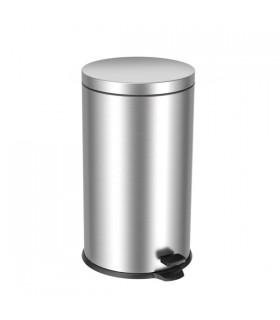 Poubelle inox à pédale 40 litres