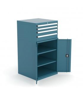 Armoire à tiroirs et portes battantes H1400mm
