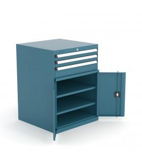 Armoire à tiroirs et portes battantes H1000mm