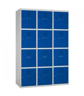 Armoire casier 3 colonnes 4 cases L400mm à monter