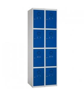 Armoire casier 2 colonnes 4 cases L250mm à monter