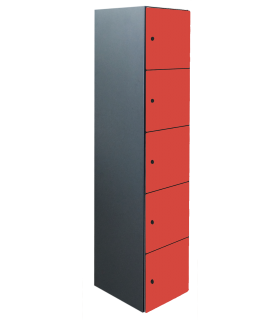 Armoire casier de bureau 5 cases