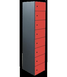 Armoire casier de bureau porte métal 8 cases L300mm