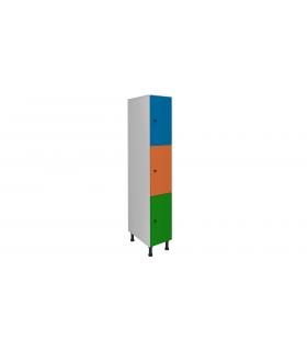 Armoire casier en mélaminé 3 cases L300mm