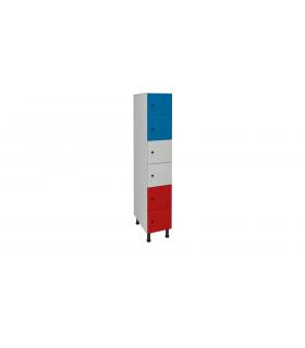 Armoire casier en mélaminé 6 cases L300mm