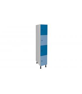 Armoire casier en mélaminé 4 cases L300mm