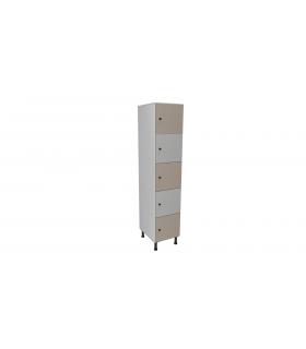 Armoire casier en mélaminé 5 cases L400mm