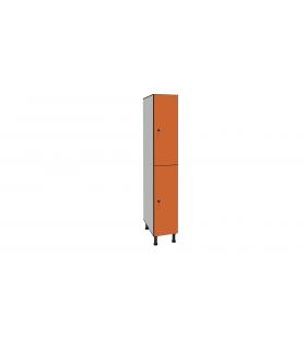 Vestiaire stratifié bi-places L300mm