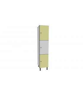 Armoire casier en stratifié 3 cases L400mm