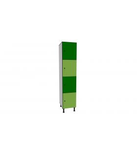 Armoire casier en stratifié 4 cases L400mm